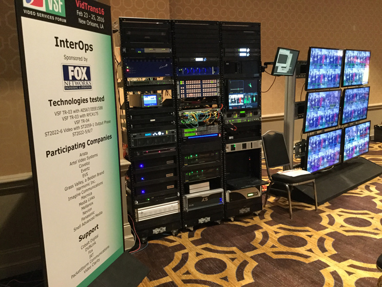 Picture of the VidTrans16 Interop Demonstration